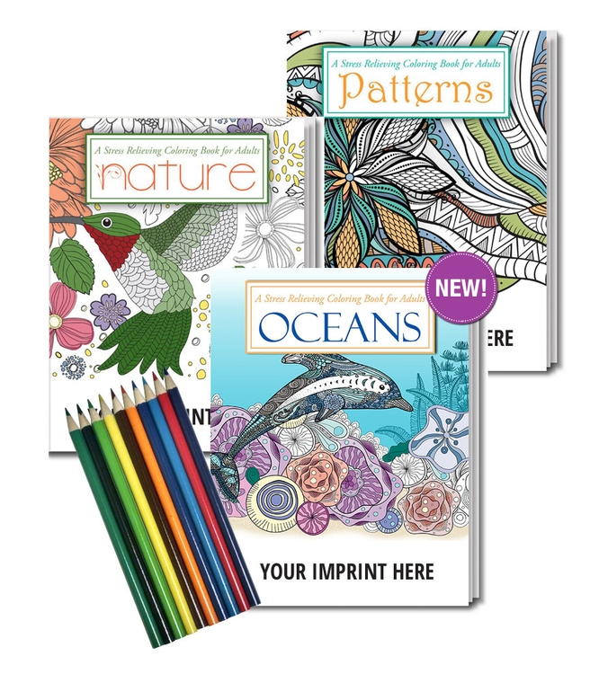 Adult Coloring Books - 3 pack